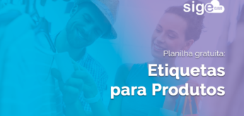 Etiquetas para Produtos: modelo Excel para download