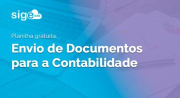 Envio de Documentos para a Contabilidade: checklist em Excel