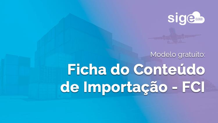 FCI em Excel: modelo da ficha de importação para download