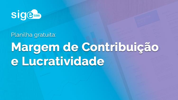 Margem de Contribuição e Lucratividade: planilha para cálculo