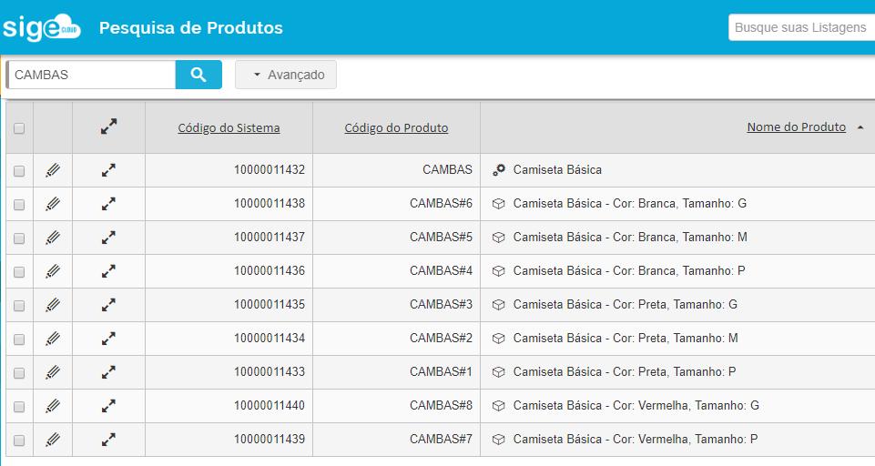 Pesquisa de Produtos
