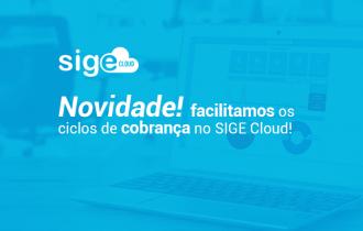 Novidade: facilitamos os ciclos de cobrança no SIGE Cloud!